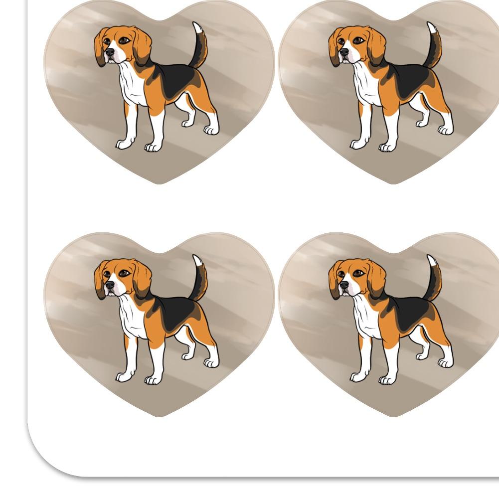 Beagle Pet Dog Heart Shaped Planner Calendar Scrapbook Craft Stickers