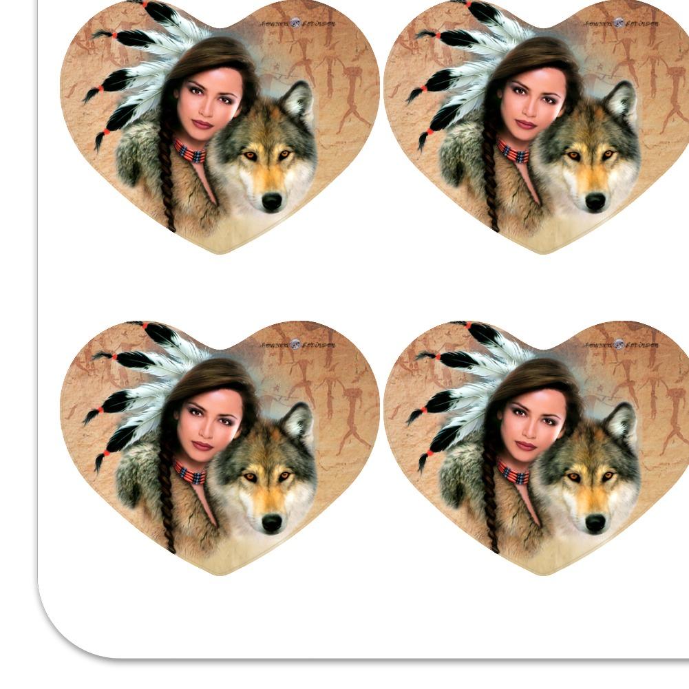 Timberwolf Timber Wolf Wolves Heart Planner Scrapbook Craft Stickers