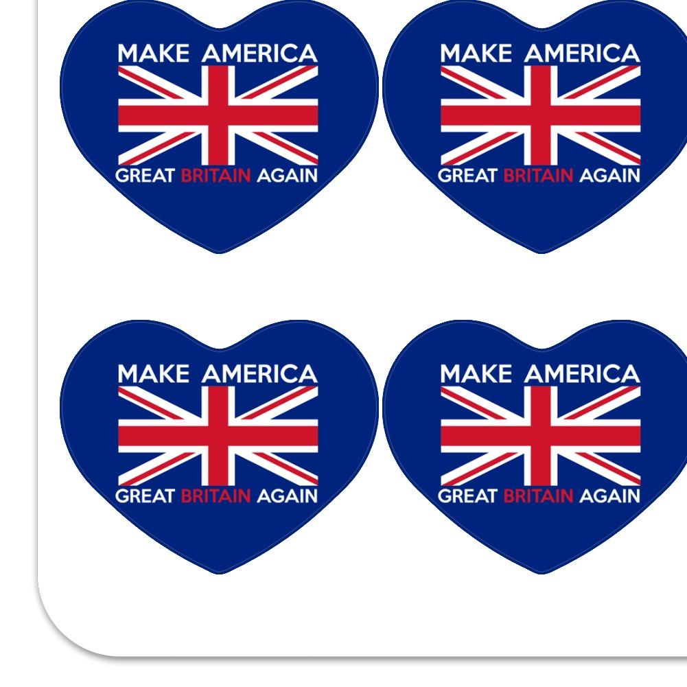 Make America Great Britain Again Funny Heart Planner Scrapbook Craft Stickers