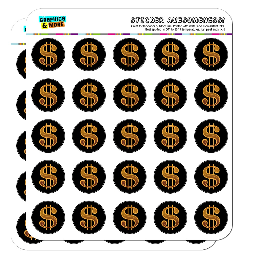 Dollar Sign Symbol Planner Calendar Scrapbooking Crafting Stickers