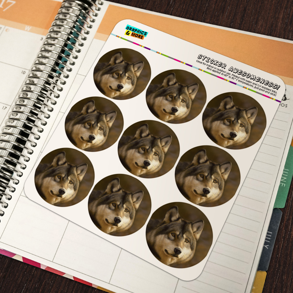 Timberwolf Timber Wolf Wolves Planner Calendar Scrapbooking Crafting Stickers