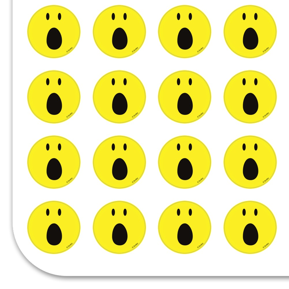 Smiley OMG Surprised Shocked Face Planner Calendar Scrapbooking Stickers
