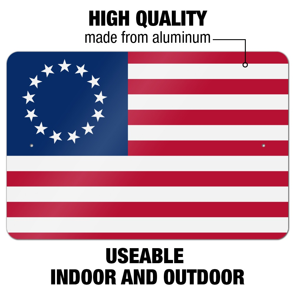 Betsy Ross 1776 American Flag Home Business Office Sign