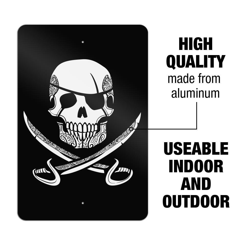 Pirate Skull Crossed Swords Tattoo Design Garden Yard Flag
