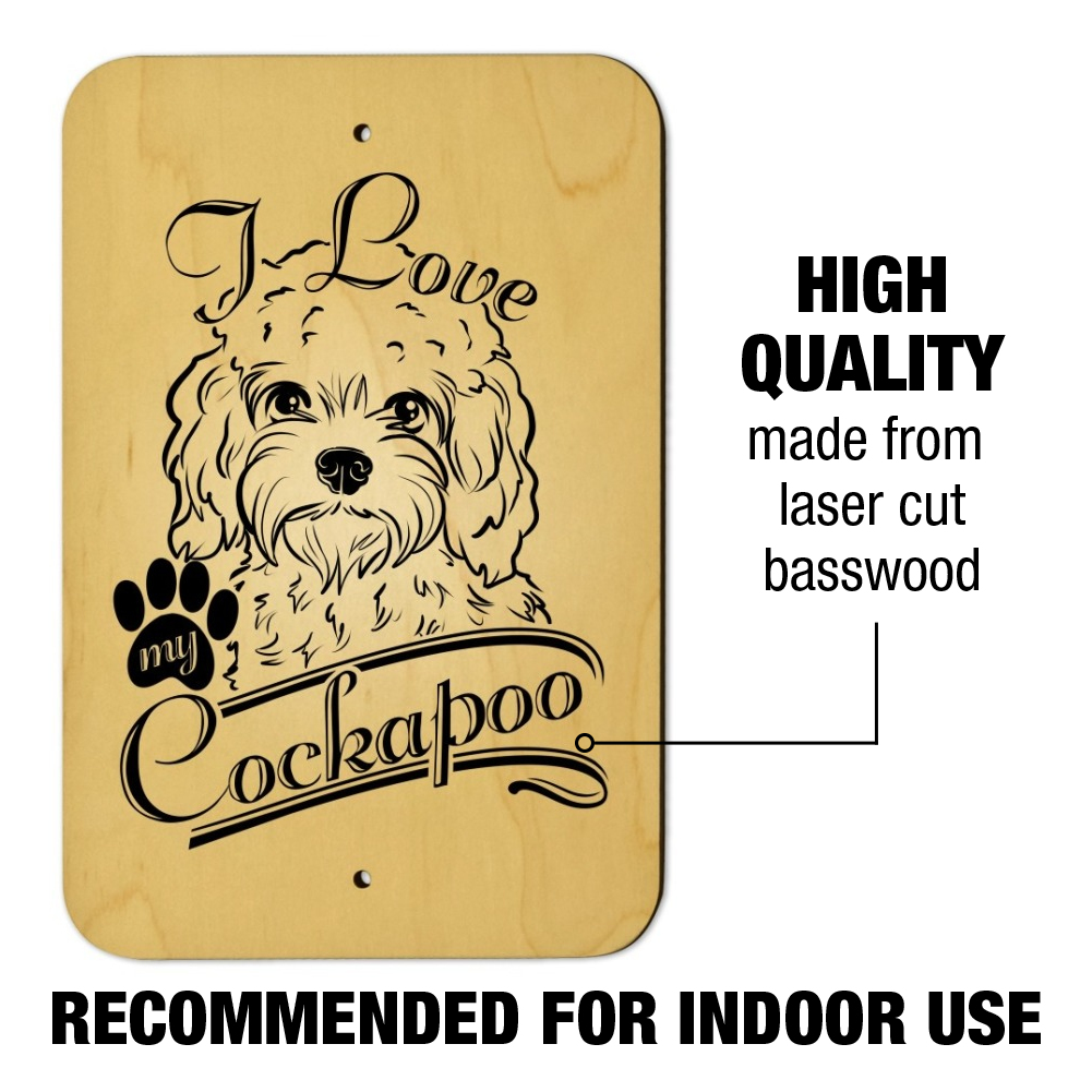 I Love My Cockapoo Home Business Office Sign