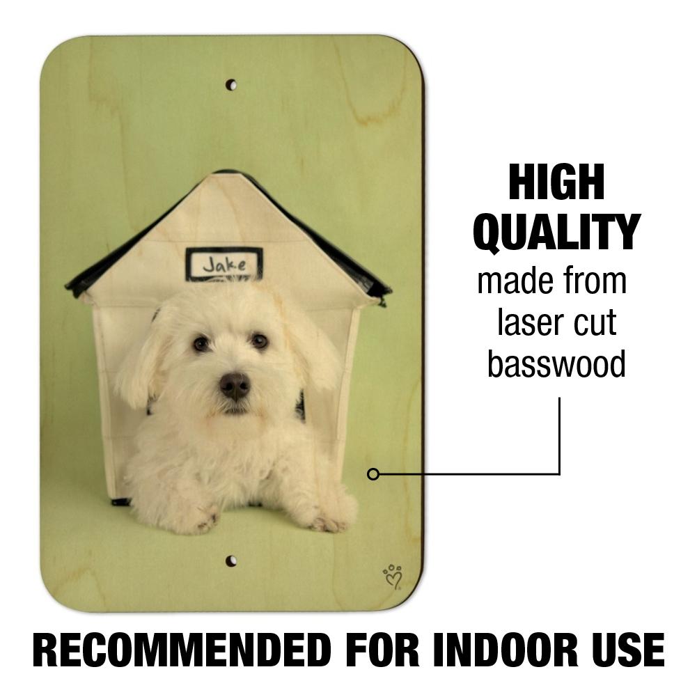 bichon frise maltese puppy dog in house home business office sign ebay rh ebay com dog in house picture dog in house picture