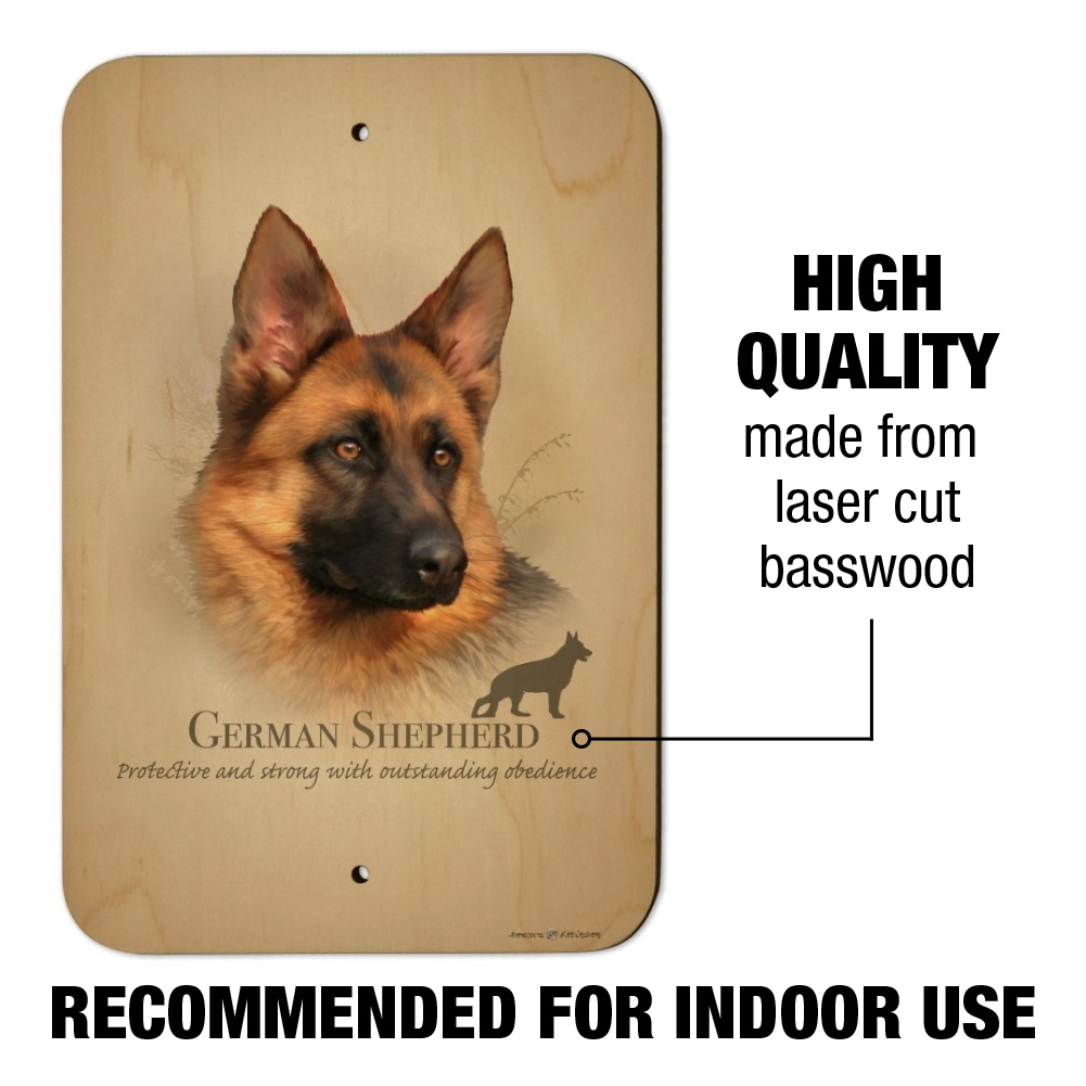German Shepherd Dog Breed Home Business Office Sign
