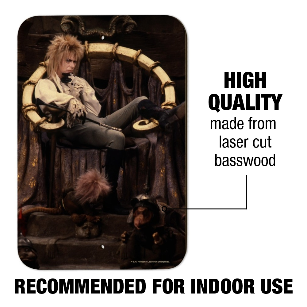 Goblin King Jareth From The Labyrinth Home Business Office Sign
