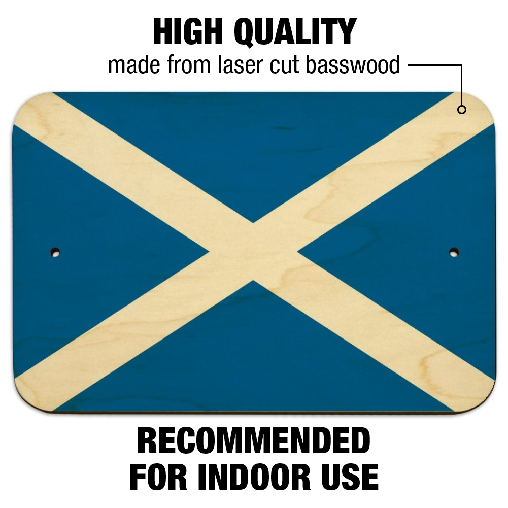 Scotland Wall Plaque Sign Scottish Sign I Love Scotland Sign Scottish Flag