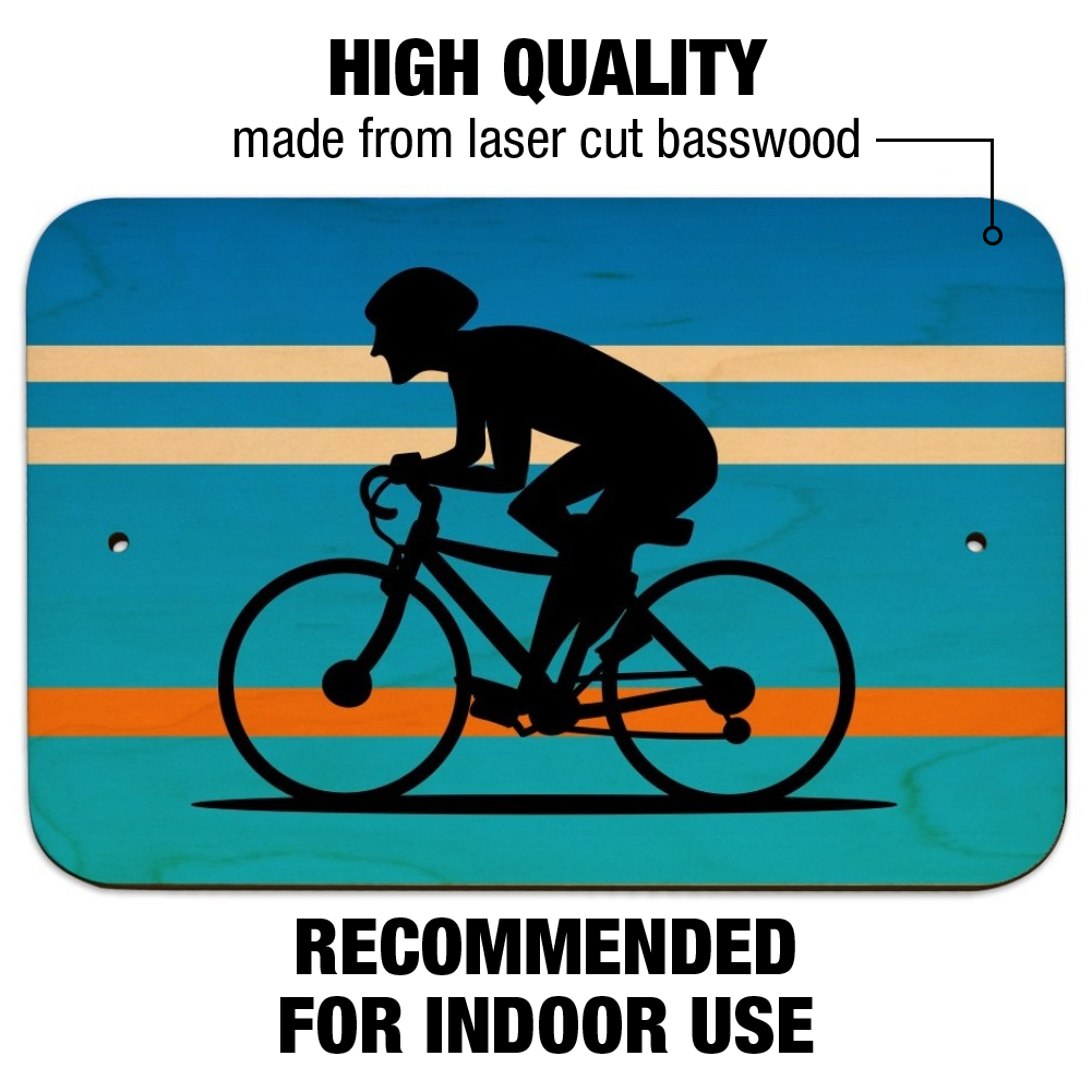 TIN SIGN B278 Bike Lane Tin Metal Sign Cycling Bicycle Route Road Bike