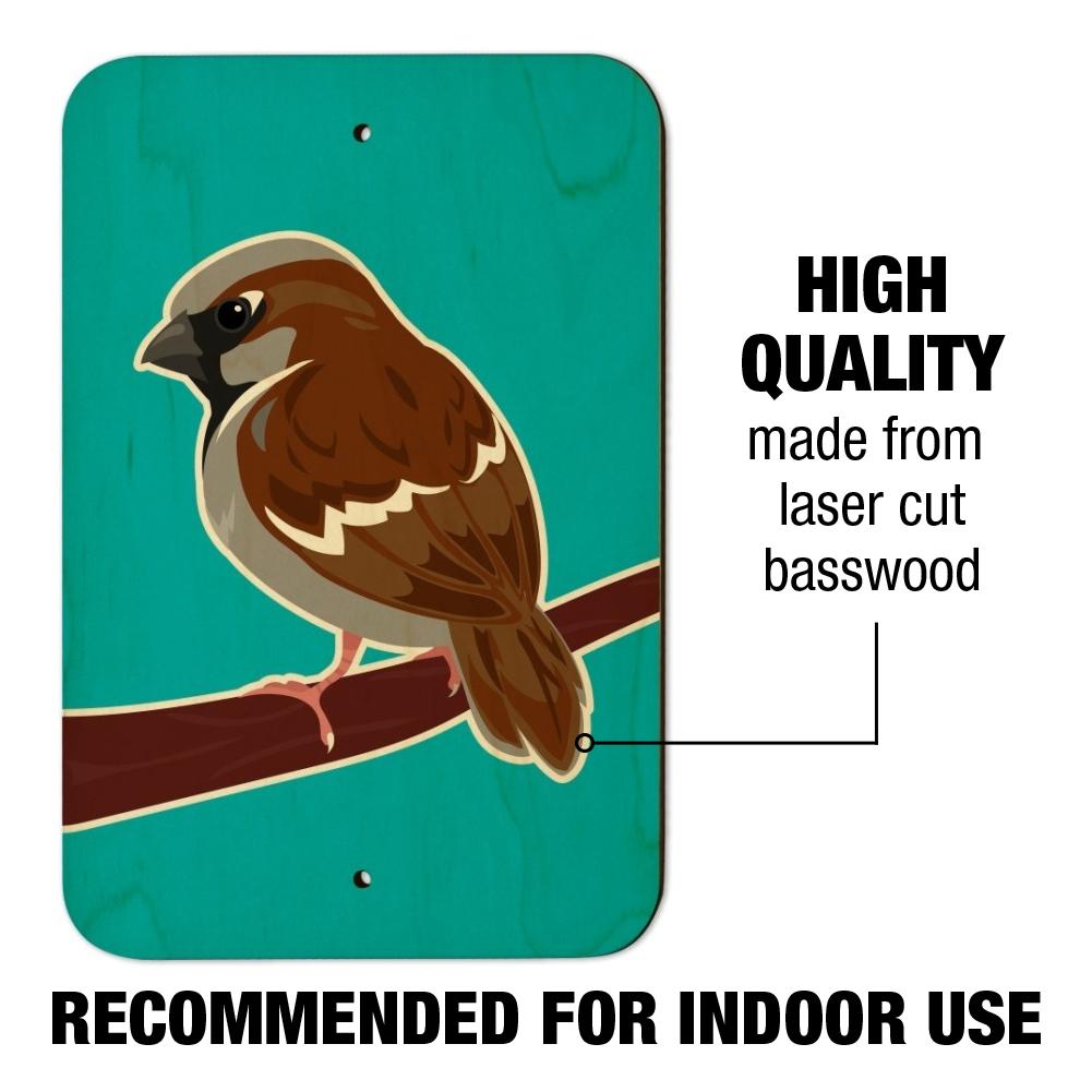 Sparrow-Little-Brown-Bird-on-Stick-Home-Business-Office-Sign