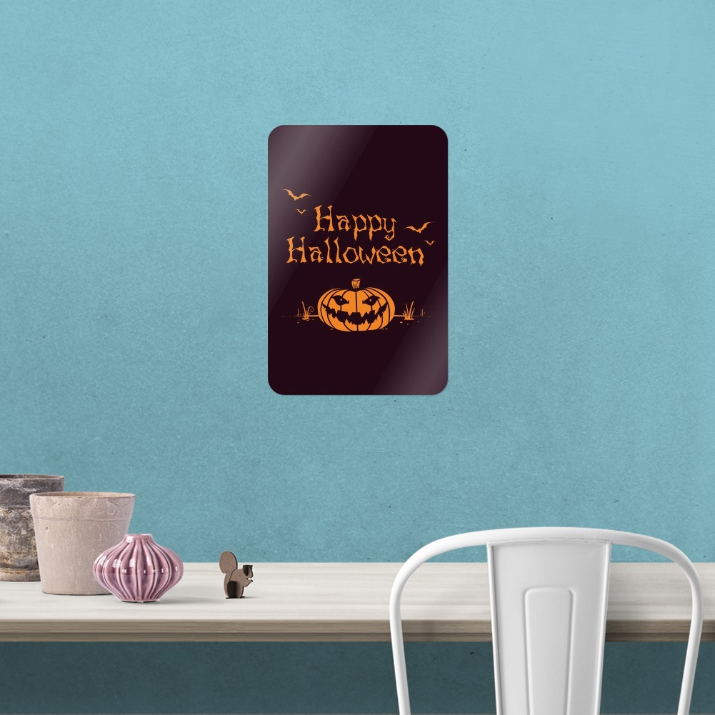 Happy Halloween Holiday Pumpkin Jack-o-lantern Bats Home Business Office Sign