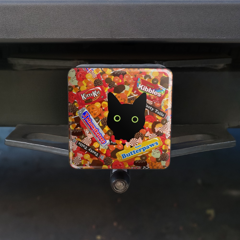 Graphics and More Candy Corn Family Halloween Oval Tow Trailer Hitch Cover Plug Insert