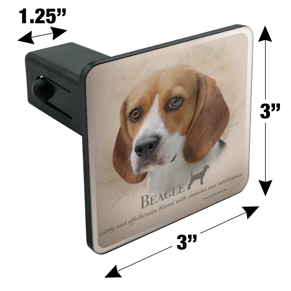 Graphics and More Beagle Dog Breed Tow Trailer Hitch Cover Plug Insert