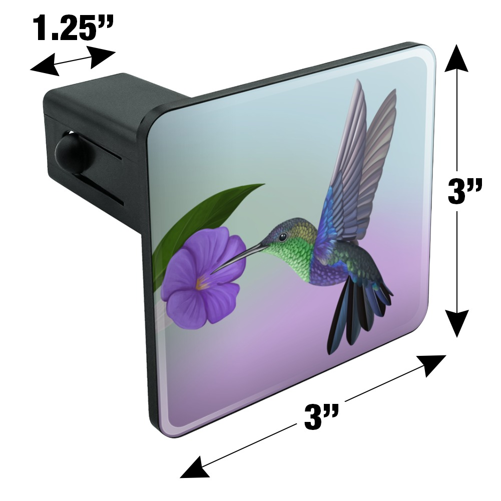 Graphics and More Hummingbird Crowned Woodnymph Purple Violet Oval Tow Hitch Cover Trailer Plug Insert 2