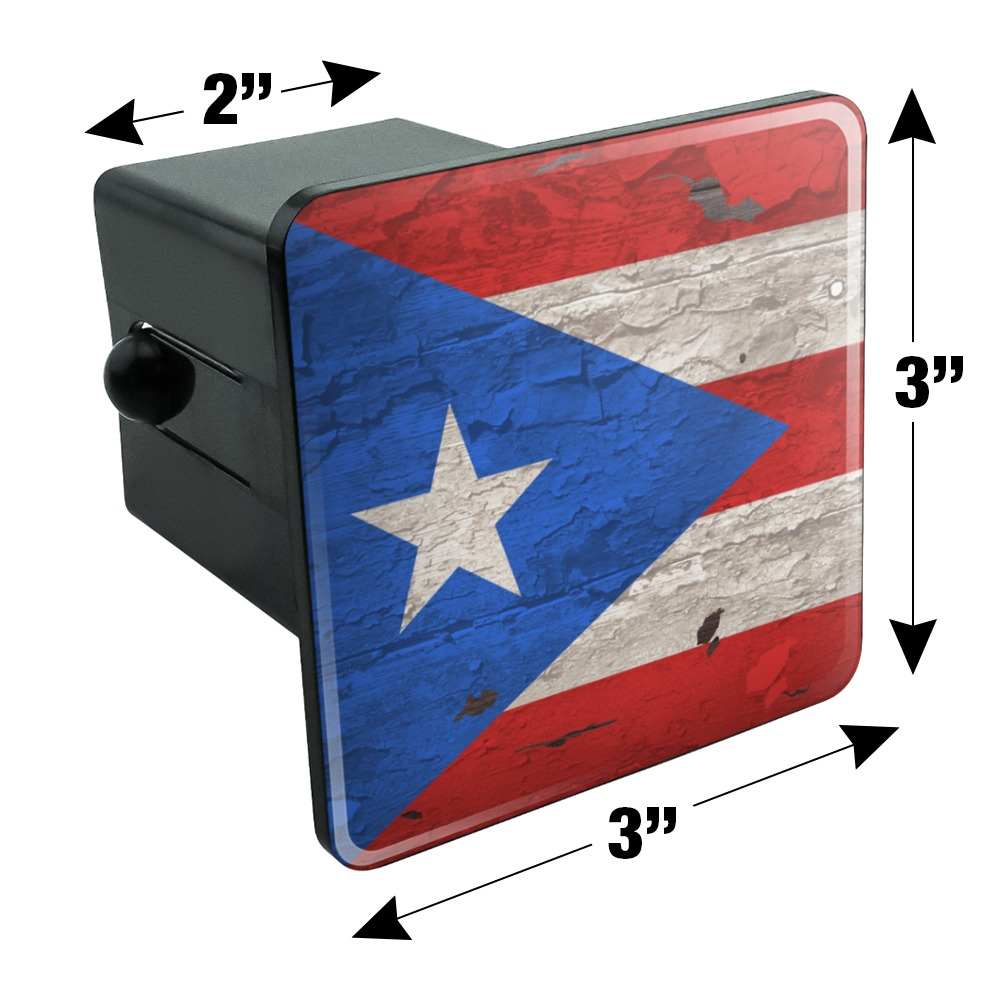 Graphics and More Rustic Distressed Guam Flag Tow Trailer Hitch Cover Plug Insert