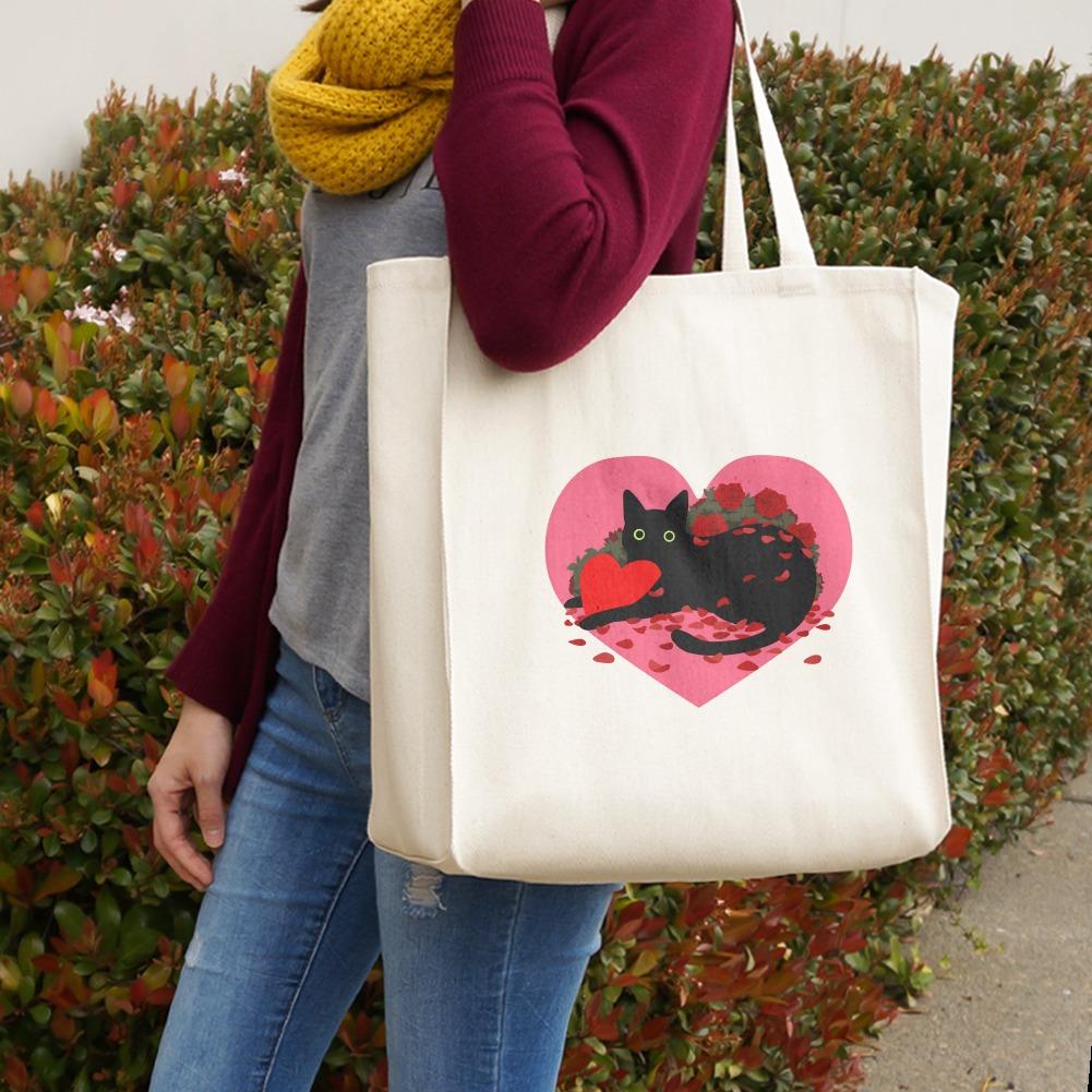 Valentine Red /& Black Roses Travel Tote Purse Shoulder Handbag