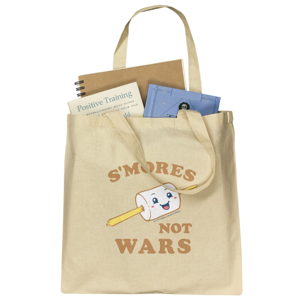 S/'Mores Not Wars Funny Humor Grocery Travel Reusable Tote Bag