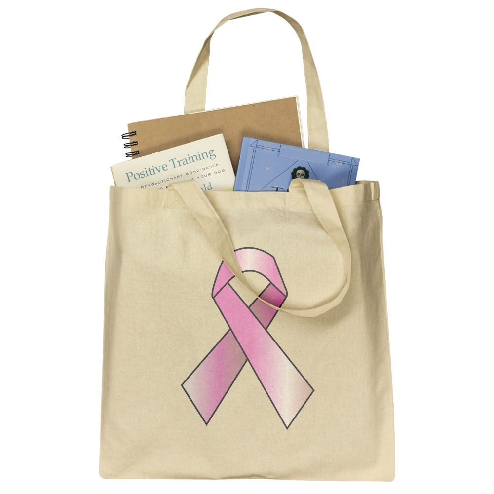 Heart Reusable Farmers Market  Grocery  Shopping Bag  Tote Pink Ribbon Think Pink