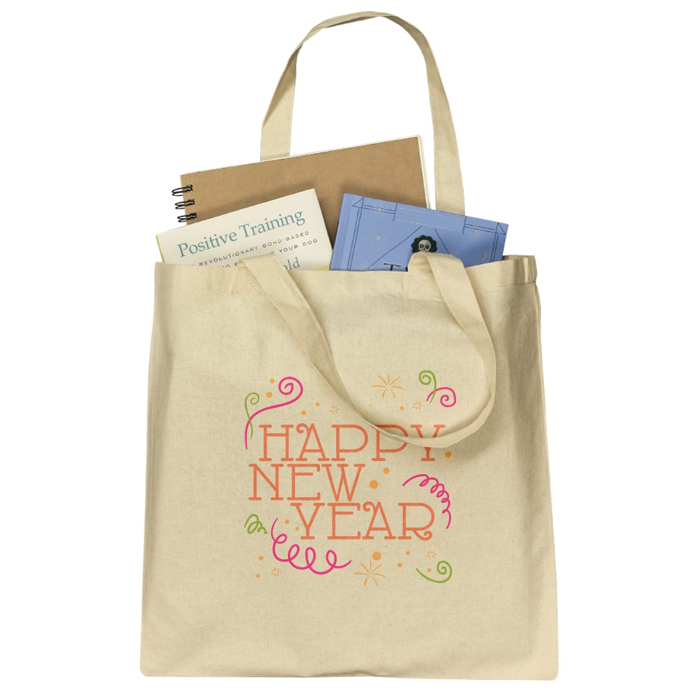 Happy New Year Grocery Travel Reusable Tote Bag