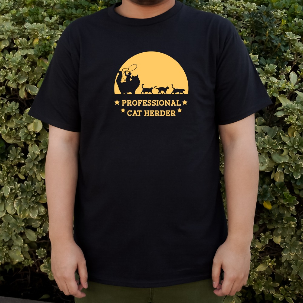 Professional Cat Herder Funny Men/'s Novelty T-Shirt