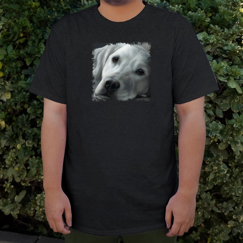 White Golden Retriever Tired Sleepy Dog Men/'s Novelty T-Shirt