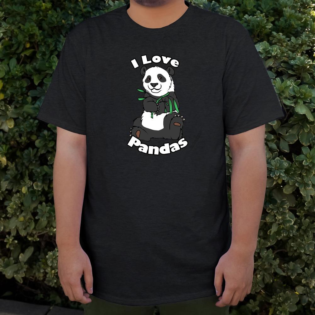 I Love Pandas with Bamboo Shoots Men/'s Novelty T-Shirt