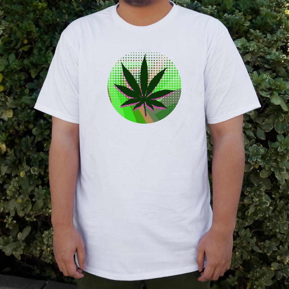 Marijuana Leaf Pot Weed Psychedelic Men/'s Novelty T-Shirt