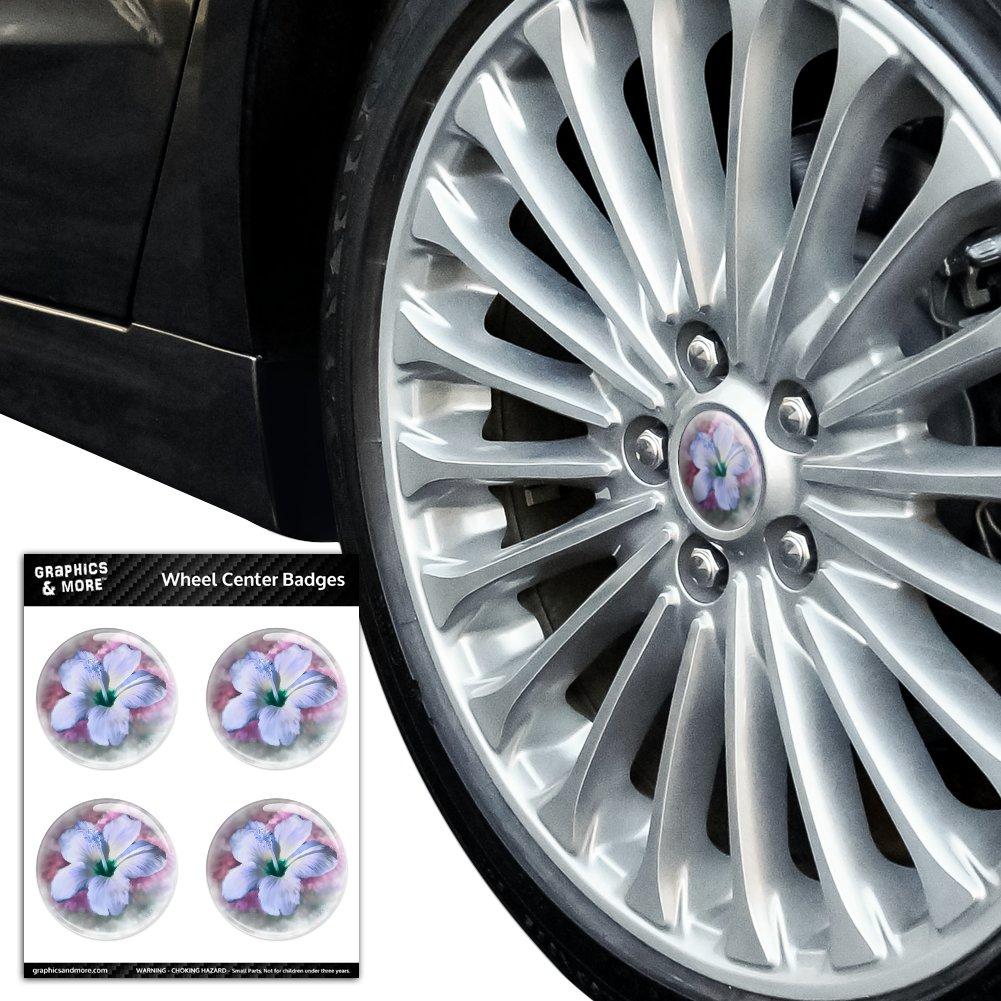 Tropical-Blue-Hibiscus-Hawaiian-Bloom-Tire-Wheel-Center-Cap-Badge-Stickers