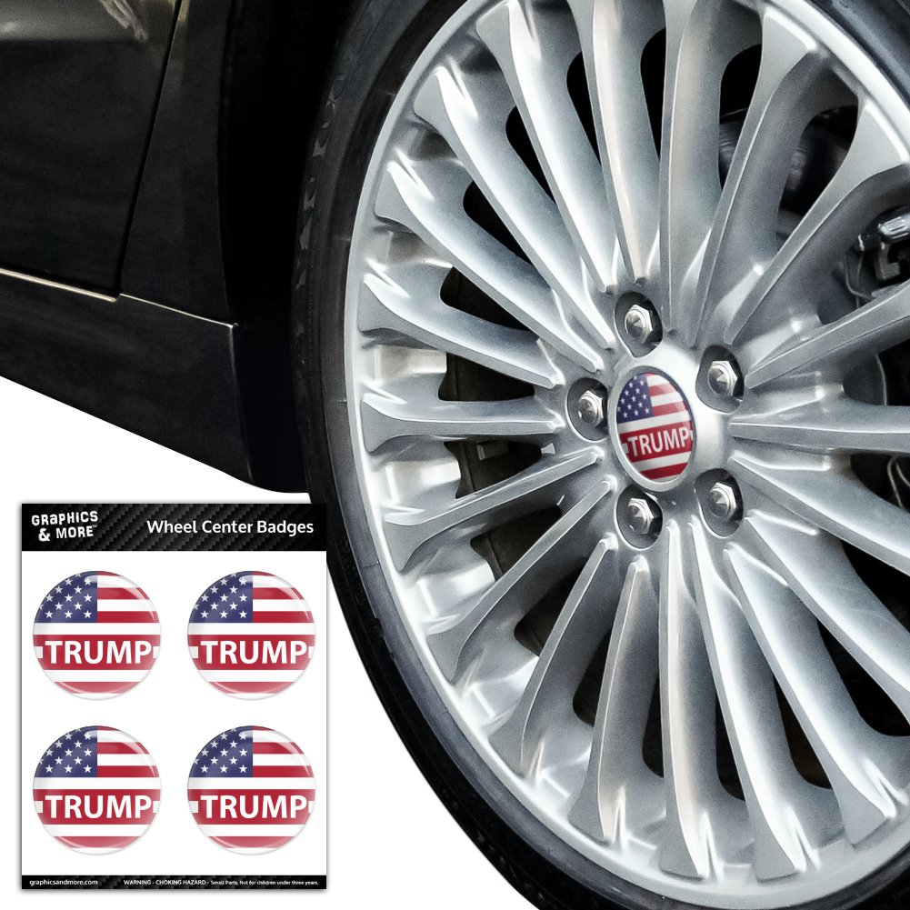 President-Trump-American-Flag-Tire-Wheel-Center-Cap-Resin-Topped-Badges-Stickers