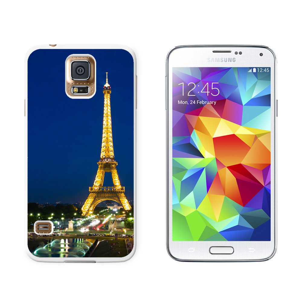 paris eiffel tower at night hard protective case for samsung galaxy s5. Black Bedroom Furniture Sets. Home Design Ideas