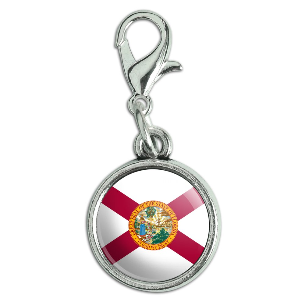 antiqued bracelet pendant zipper pull charm with lobster