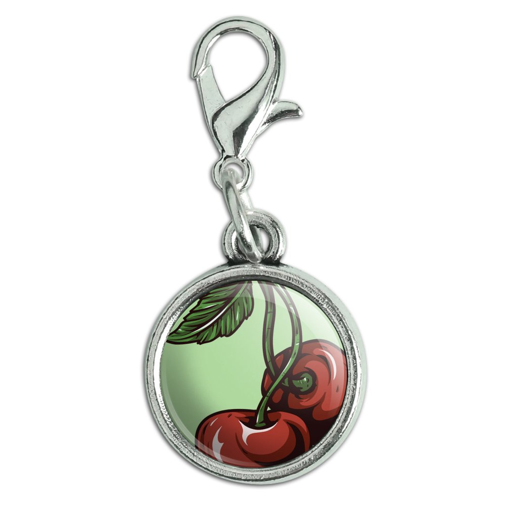 antiqued bracelet pendant charm with lobster clasp food