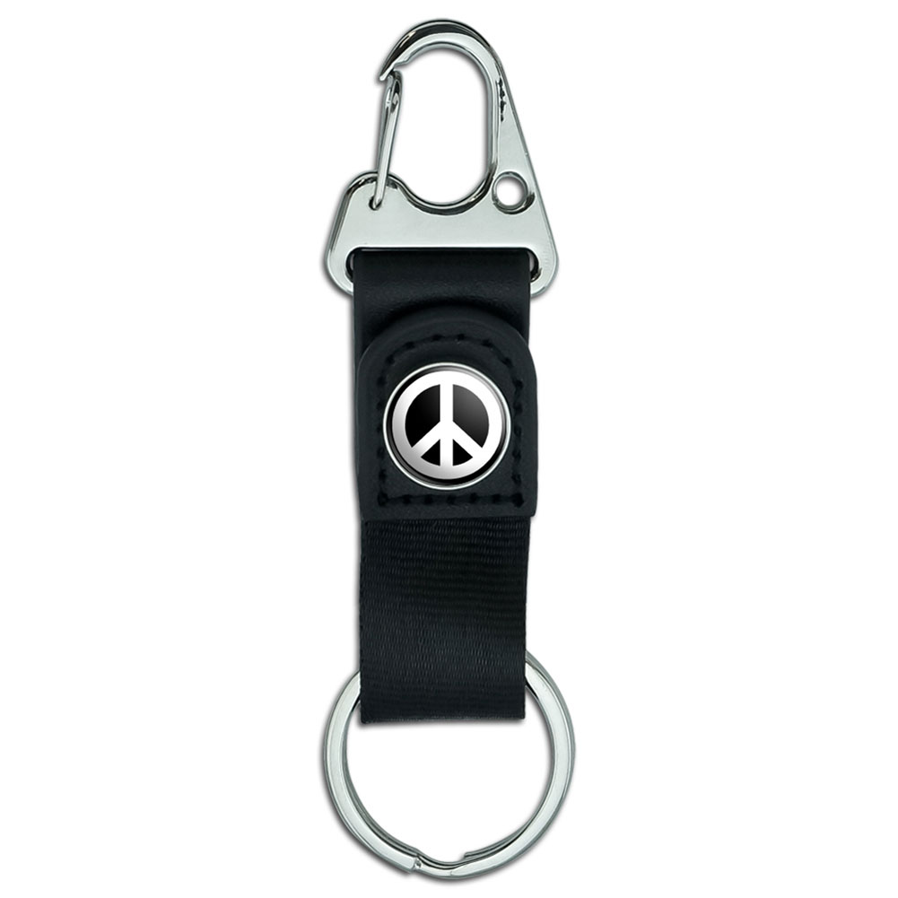 belt clip on carabiner leather keychain fabric key ring