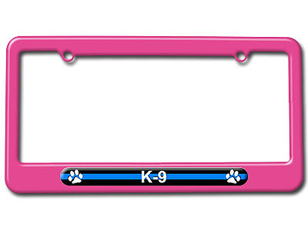 Thin Blue Line K-9 Unit Paw Prints License Plate Tag Frame - Colors ...