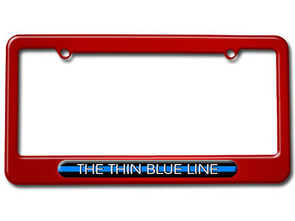 The Thin Blue Line - Police License Plate Frame - Graphics And More
