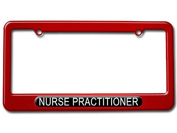 nurse practitioner nurse license plate tag frame colors