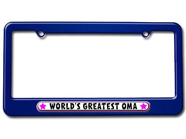 World\'s Greatest Oma - German Grandmother License Plate Frame ...
