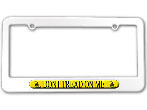 gadsden flag don 039 t tread on me - Don T Tread On Me License Plate Frame