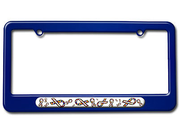 Autism Awareness Ribbons License Plate Tag Frame - Colors | eBay