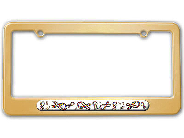 Autism Awareness Ribbons License Plate Tag Frame - Colors   eBay