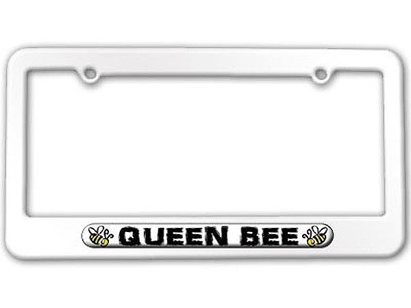 queen bee bumble bee license plate tag frame