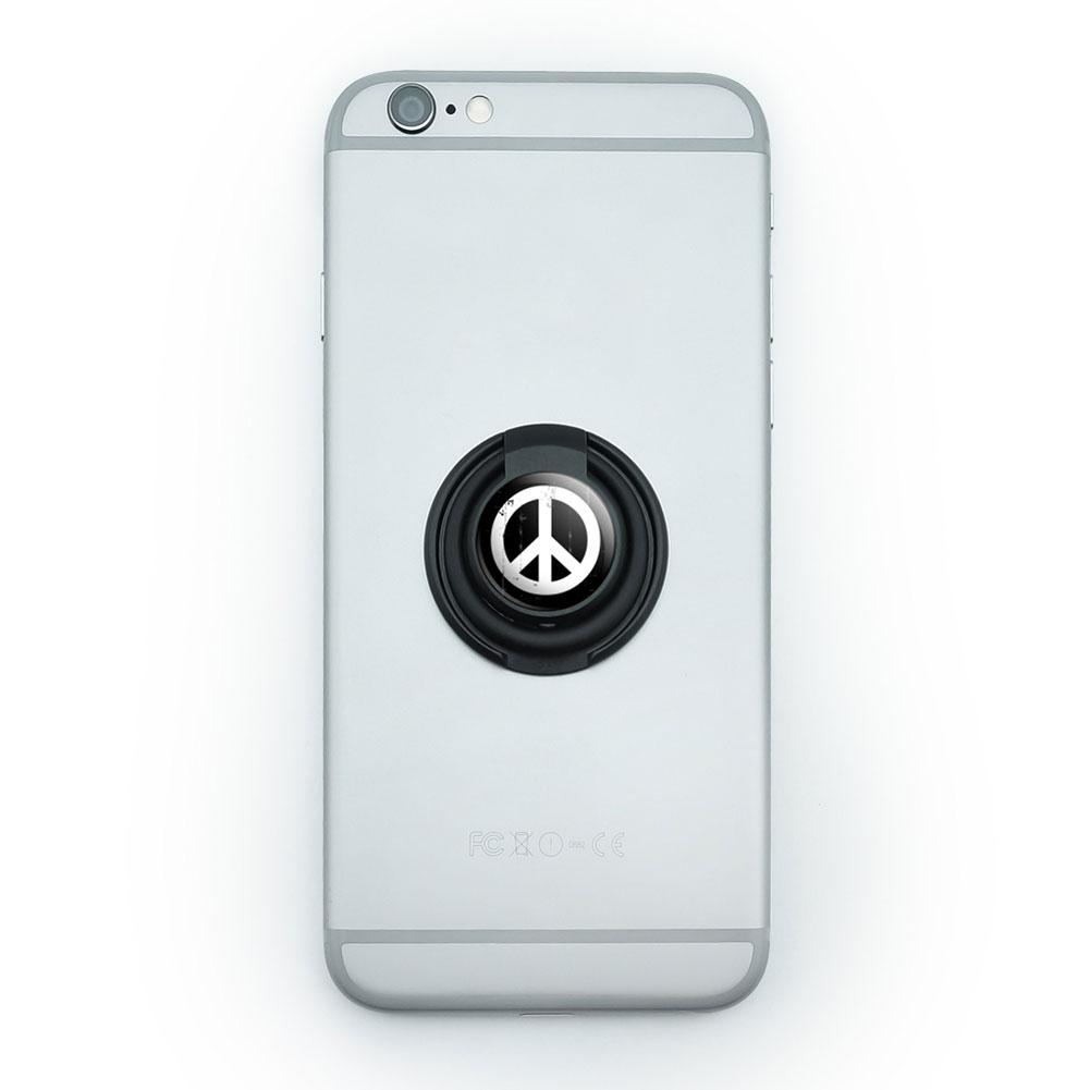 Mobile Smart Phone Finger Ring Grip Holder Stand Peace Sign Symbol
