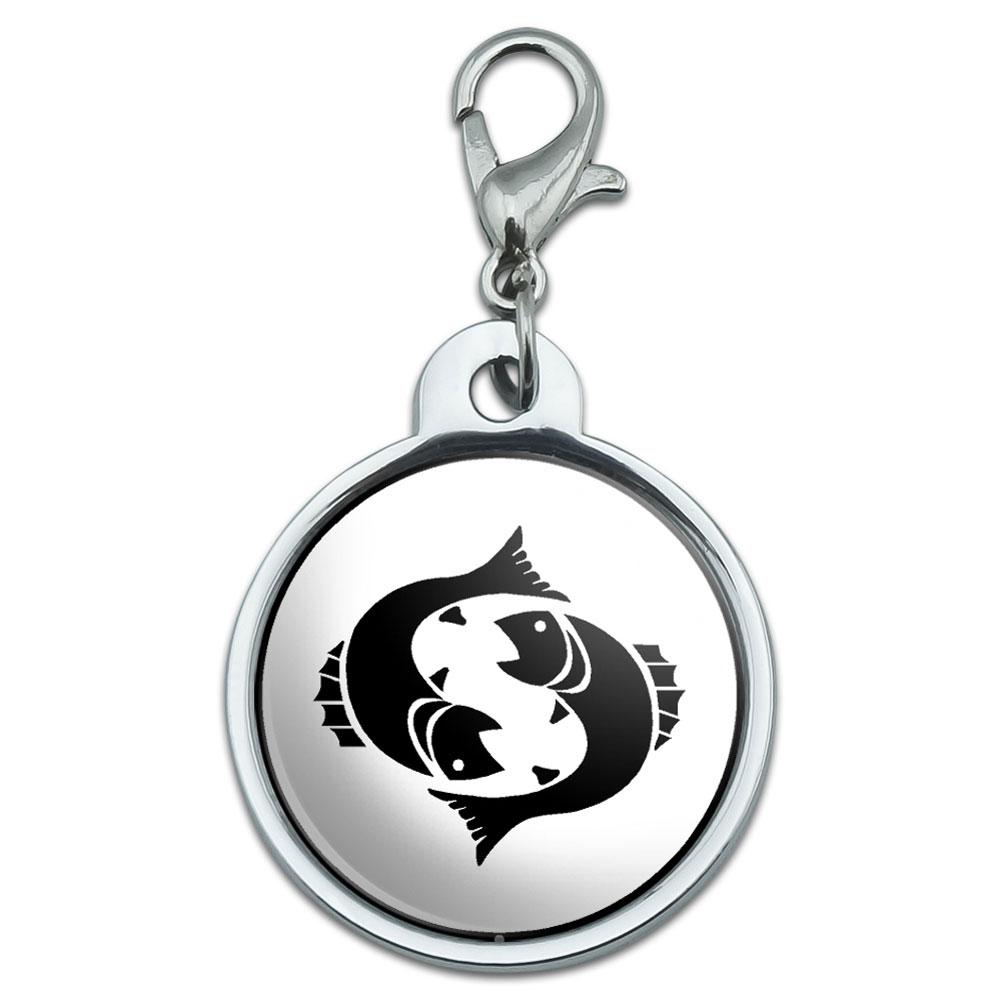 Chrome Plated Metal Small Pet Id Dog Cat Tag Zodiac