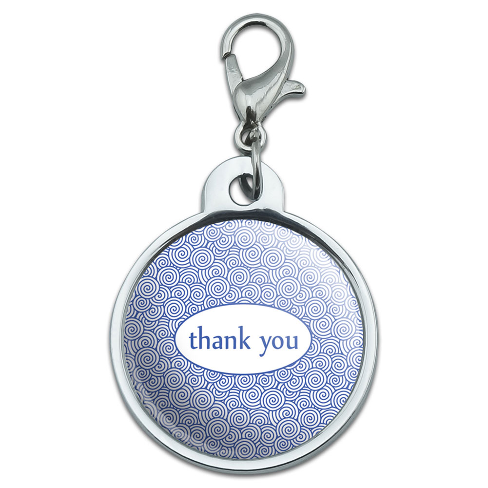 Chrome Plated Metal Small Pet Id Dog Cat Tag Zodiac: Chrome Plated Metal Small Pet ID Dog Cat Tag Thank You
