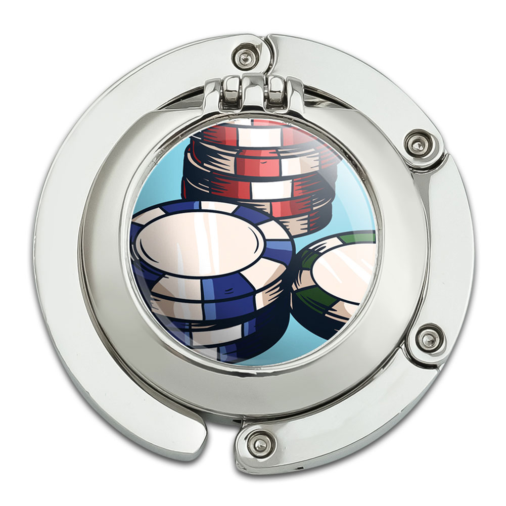 Purse Hanger Hook Compact Mirror Gamling Track Cards Poker