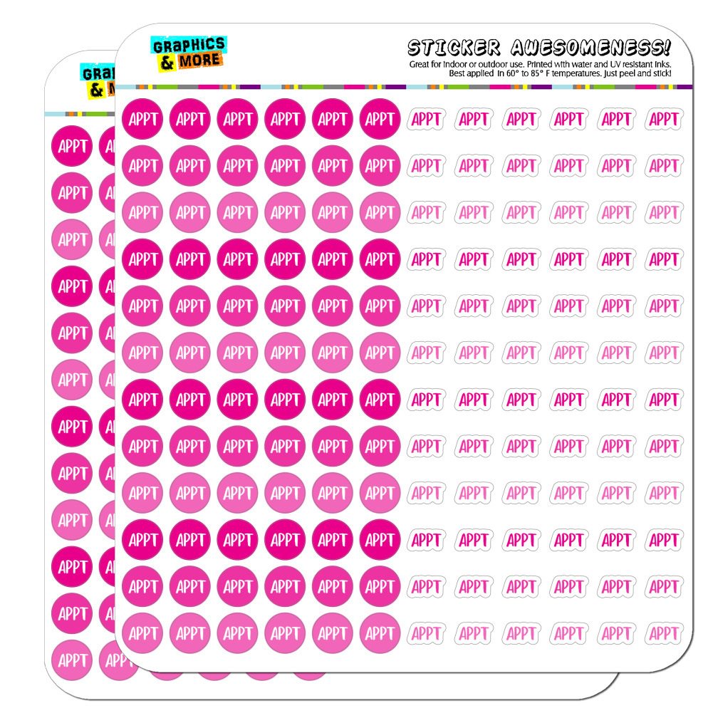 Appointment APPT Dots Planner Calendar Scrapbooking Crafting Stickers