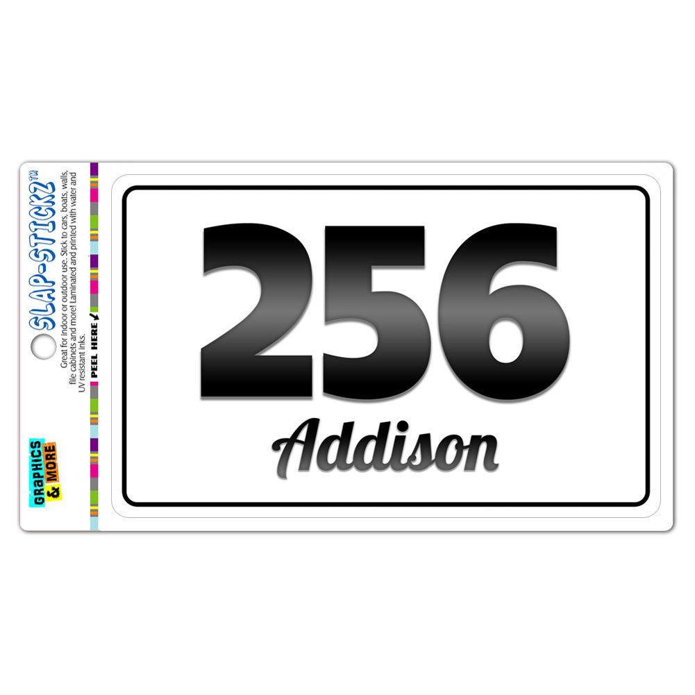 Area Code B W Window Laminated Sticker 256 Alabama Al Addison Garden City Ebay