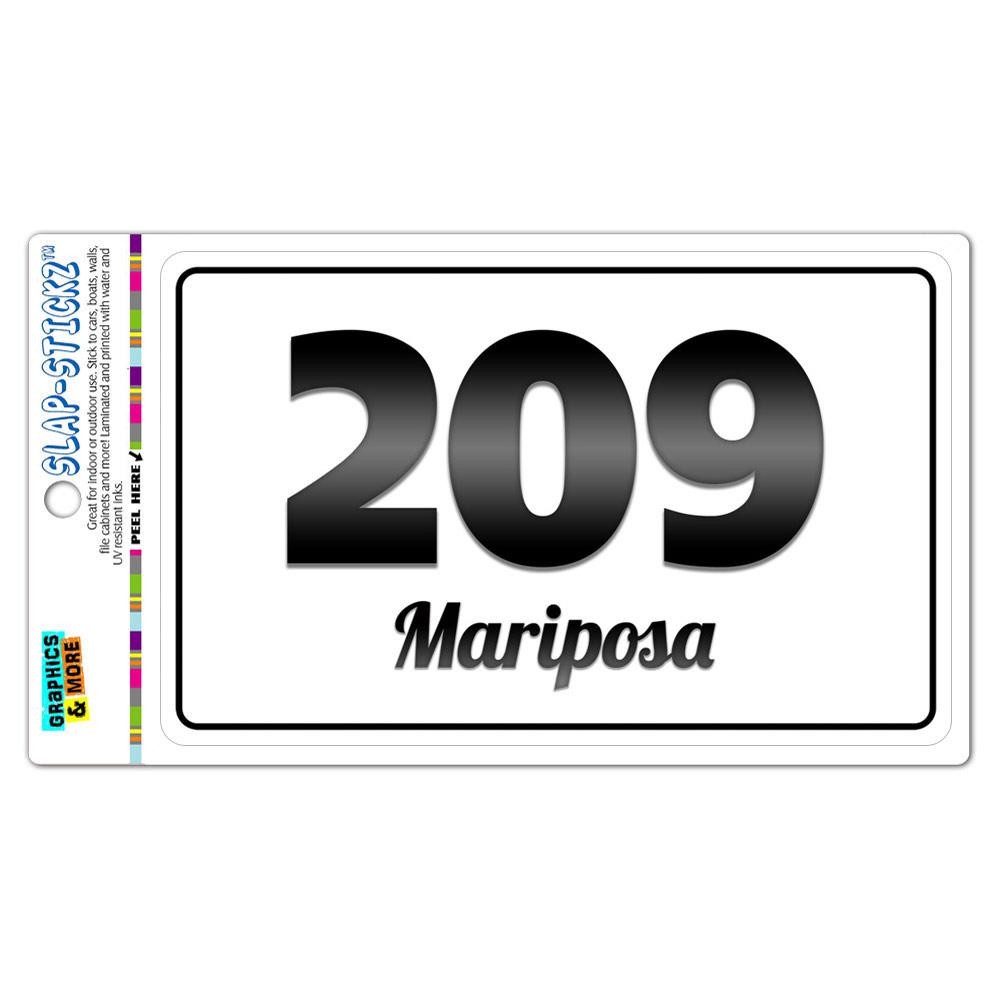Area Code BW Window Sticker California CA Manteca Yosemite - Where is area code 209
