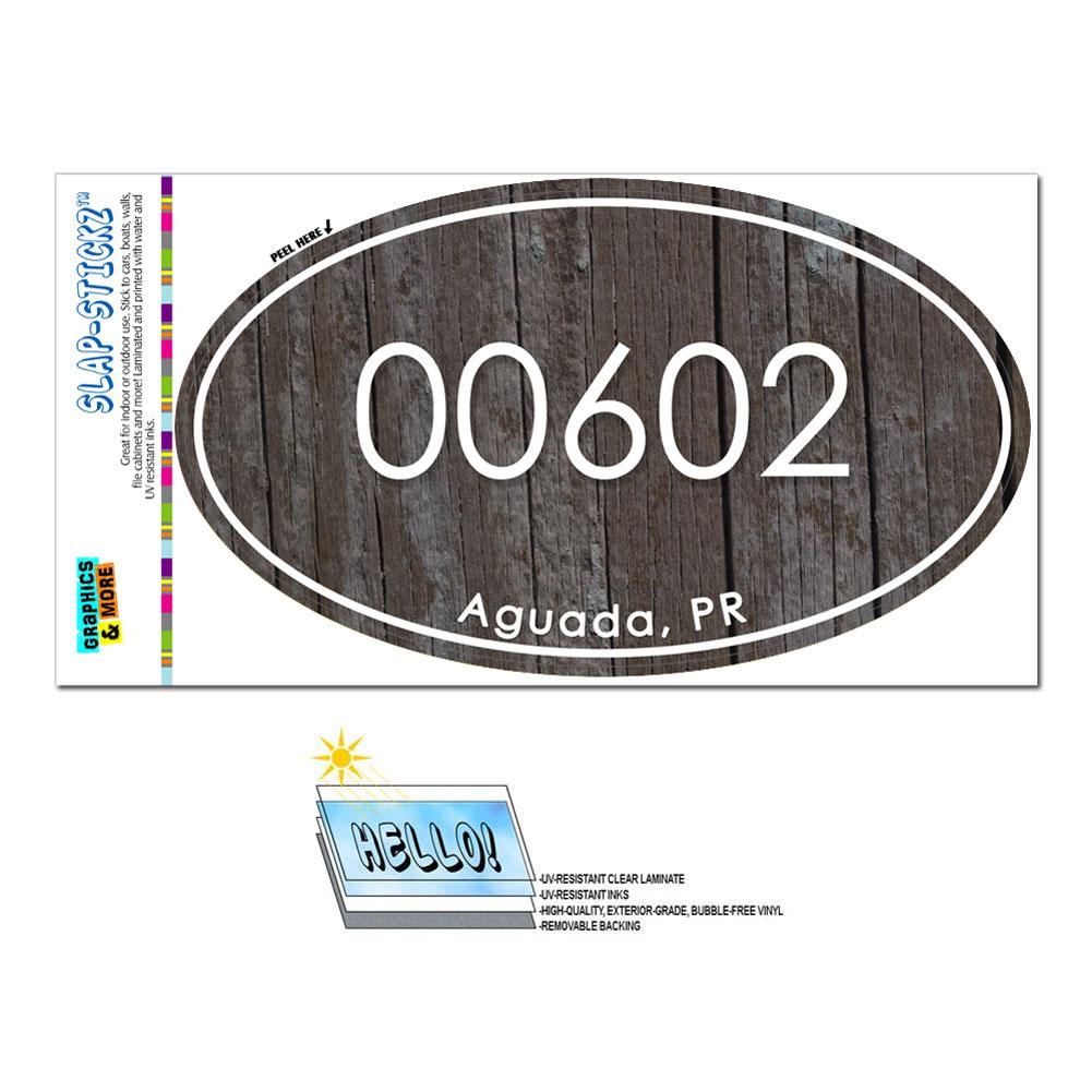 Puerto Rico Pr Zip Code 00601 00738 Euro Oval Window Bumper